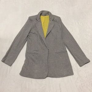 NY Collection gray cotton blazer  size small